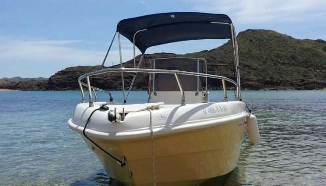 Barco Aventura - Tu barco en Menorca - proa